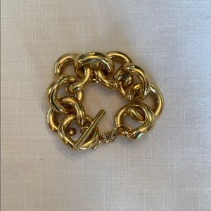J. Crew brass gold tone Jenna link bracelet